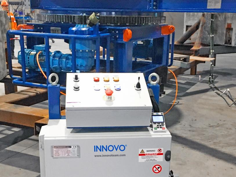Innovo Motorised Drum is controlled using a Programmable Logic Controller (PLC)