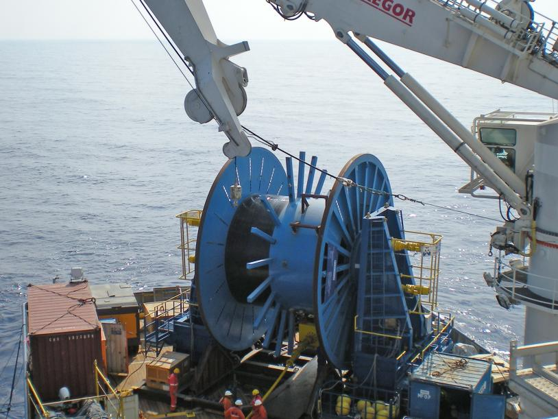 Innodrive 425 Reel Drive System offshore Israel.
