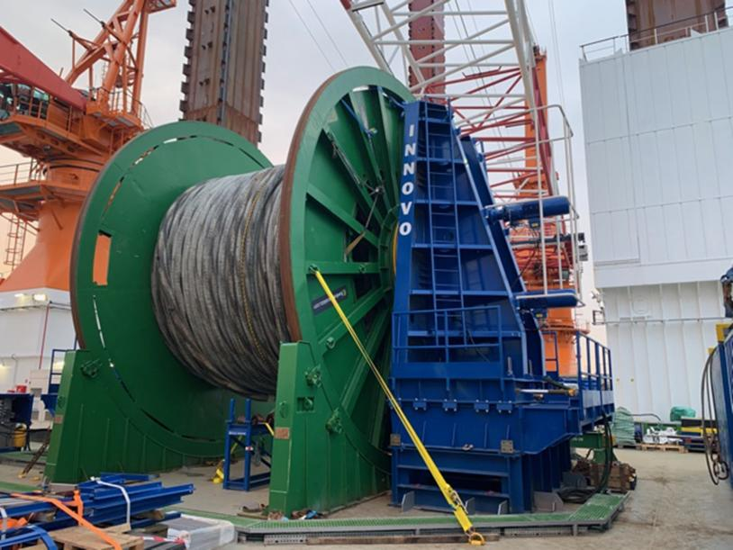 Innodrive 800 Reel Drive System for power cable installation offshore.