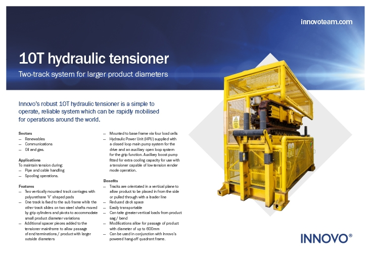 10T Hydraulic Tensioner (for larger product diameters) available to rent