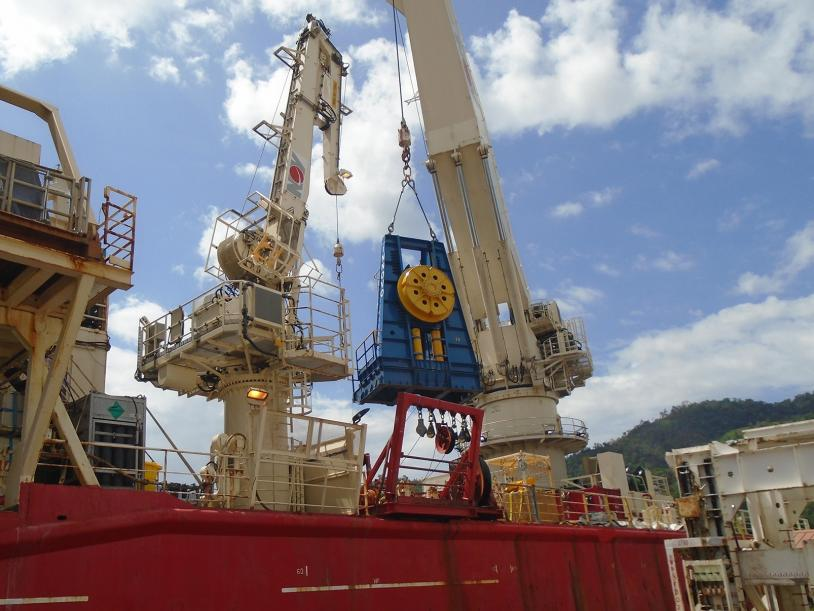 Innodrive 700 Reel Drive System installation on the Well Servicer vessel.