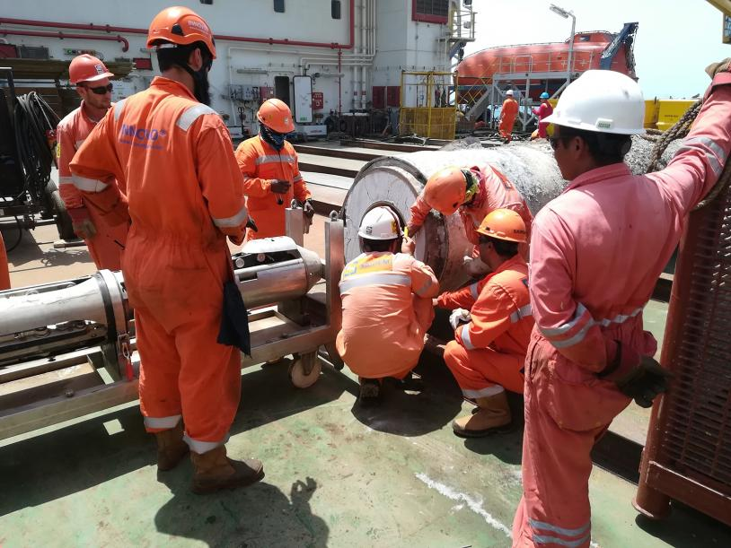 Internal Cutting Tool (ICT) operating in the Safaniya field, Middle East.