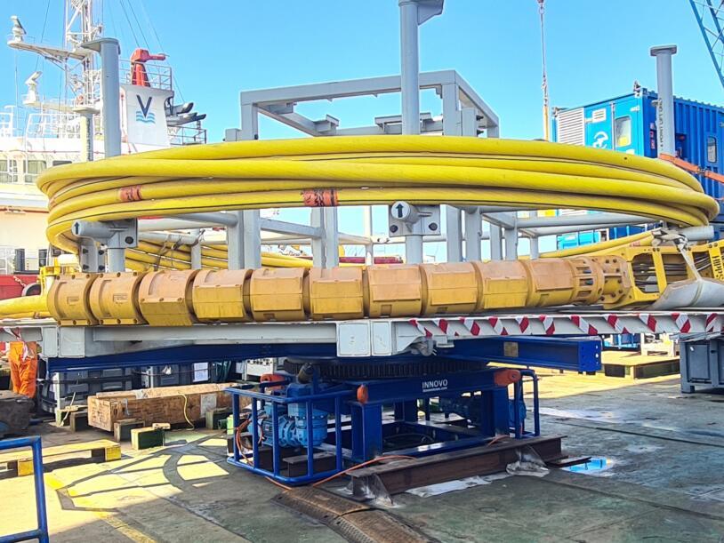 Innovo Motorised Drum in operation offshore Egypt.