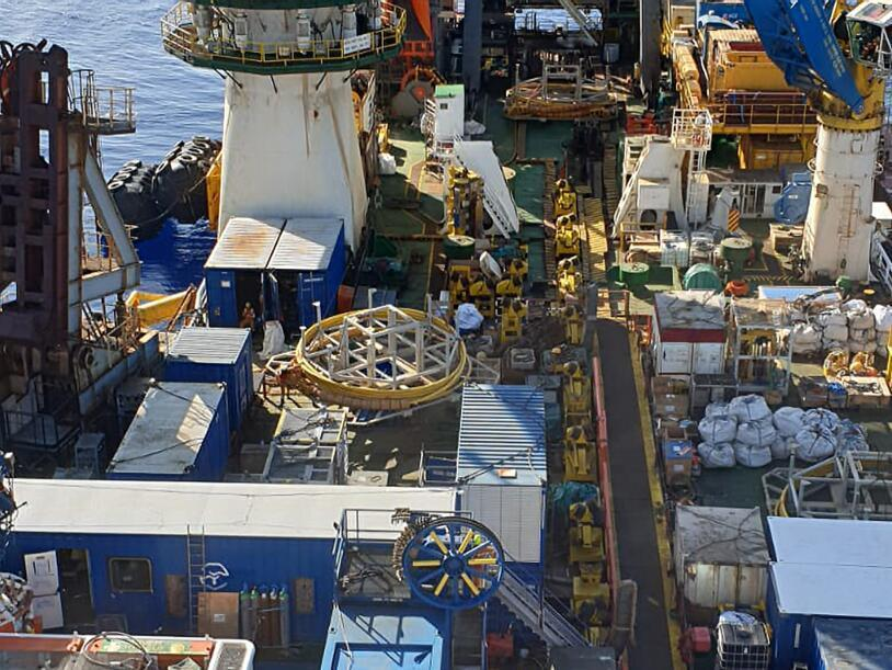 Innovo Motorised Drum on vessel deck offshore Egypt.