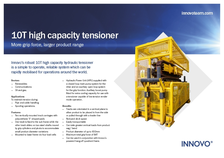 10T High Capacity Tensioner (INN-10HT-HC) available to rent