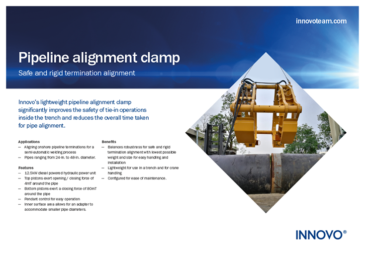 Pipeline Alignment Clamp